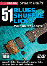 Lick Library LEARN 51 BLUES GUITAR SHUFFLE LICKS With Stuart Bull Video DVD TAB