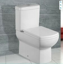 Duravon Modern Square Close Coupled Toilet WC Soft Close Seat