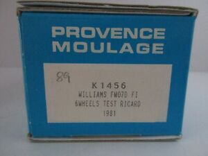 PROVENCE MOULAGE 1/43 WILLIAMS FW070 F1 6 WHEELS TEST RICARD 1981 KIT K 1456