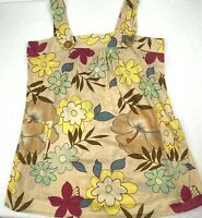 Xhilaration XXL Tan Sleeveless Floral Tunic Top Multicolored Womens Retro