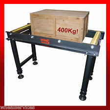 WNS Heavy Duty Roller Conveyor Table 1 Metre Holds 400Kg 4 Rollers Adjustable