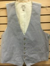 suits sz *l blue strips new mens vest  7 seven for all mankind