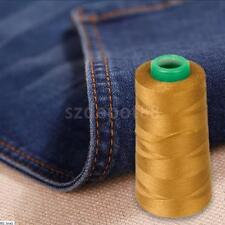 3000yds THICK Polyester THREAD Upholstry Jeans Denim Button Sew Craft Gold