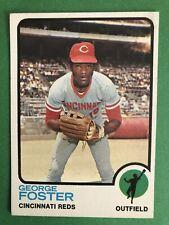 1973 Topps baseball set break, # 399, George Foster, EX-EXMNT