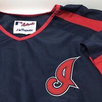 Cleveland Indians Warm Up Windbreaker Majestic Authentic Jacket XL MLB
