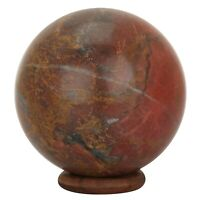 Big Natural Stone Gem Red Jasper Sphere Crystal Ball Chakra Healing Reiki Stone