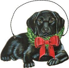 Primitives By Kathy Ornament - Christmas Black Labrador