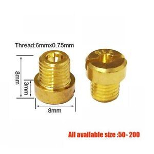 M6 Thread 6mm 6x0.75 Thread Main Jet Kit for DellOrto Carb #66 (all size 50-200