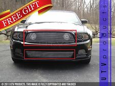 GTG 2013 2014 Ford Mustang GT 2PC Polished Combo Billet Grille Grill Kit