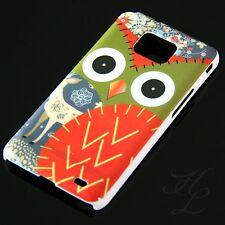 Samsung Galaxy S2 i9100 Hard Handy Case Schutz Hülle Etui Eule Rot Schale Owl
