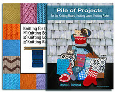 2 Book Combo for the Knitting Board, Knitting Loom, Rake (How To & Patterns)