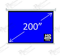 "New 200"" Electric HD Projection Screen projector home cinema 4:3 Fiber Glass"