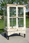 Antique Apothecary Cabinet Oak Wood Display Case Country Store Kitchen Primitive