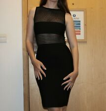 Herve Leger Leroux Couture LL Black Bodycon  Dress Size FR 36 BNWT PRP £1,850