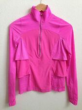 Lululemon Sun Runner Pullover Jacket Pink Ruffle size 2
