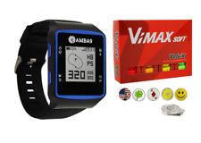 Amba9 GPS Golf Watch, 1 Dozen Volvik Vimax balls, 5 Ball Markers, 1 Hat Clip