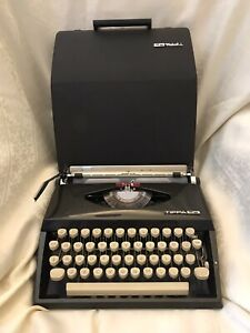 Adler Tippa S Portable manual typewriter & Booklet Western Germany Fully Working