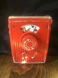 Vintage Sing a Song of Sixpence Fisher Price Music Box Pocket Radio 1964