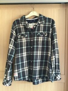 Ladies shirt size 10 Brakeburn Blue check cowboy style with detail and pockets