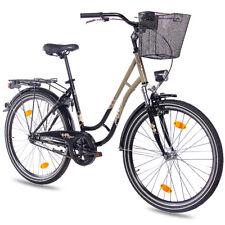 "Cityrad Damenrad Fahrrad 26""Zoll  KCP TOURY Rücktritt StVZO Korb schwarz oliv"