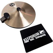 "LP LP1510 Cajon Hats 9"" Hi-Hat Becken + KEEPDRUM Sitz-Pad"