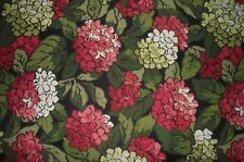 One Yard Canvas Fabric Coral & White Rhododendrons * Free Shipping Over $50