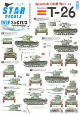 Star Decals 1/35 REPUBLICAN T-26 TANK IN THE SPANISH CIVIL WAR