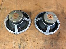 "Pair Wharfedale Super 8 rs dd Full Range Hifi Speakers 16 ohms 8"""