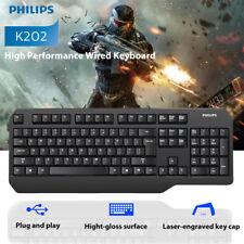 Philips Wired Gaming Keyboard LED Backlit 104 Keys PC Laptop Desktop Computers-