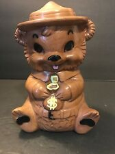 Vintage Ceramic Smokey the Bear Savings Bank Winton Calif USA