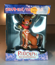 Rudolph the Red Nosed Reindeer Christmas Ornament Nib Toys R Us Retired Xmas