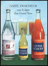 Publicité VITTEL DELICES Jus de fruits d'orange Vittelloise R/V vintage ad 1955