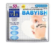 Kose Clear Turn Babyish Whitening Face Mask 50 sheets Japan F/S