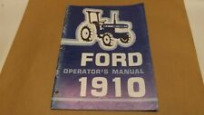 Ford New Holland 1910 Compact Tractor Operator's Manual