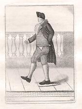 John Kay Original Antigua Grabado. Francis McNab, Esq. de Internet, 1797