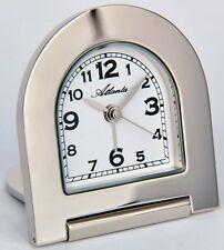 Atlanta Stilwecker Quartz Reisewecker 1131 Silber Wecker mit Metallgehäuse Neu