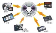 CONVERSIONE CASSETTE VHS 8MM MINIDV VHS-C IN DVD O FILE