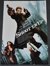 SHOOT 'EM UP 2007 ORIGINAL UNFOLDED 11x17 MOVIE POSTER! CLIVE OWEN CRIME ACTION!