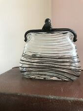 Vintage Glass Handbag Very Decorative Ornament Large & Heavy