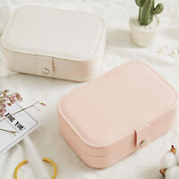 European Pu Leather Jewelry Boxes Princess Portable Storage Box Multi Layer F2H2