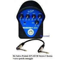 De Salvo EP-22CH Stereo Chorus Effetto a Pedale per chitarra elettrica + cavo