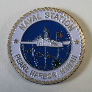 Pearl Harbor Hawaii Naval Station Navy Challenge Coin