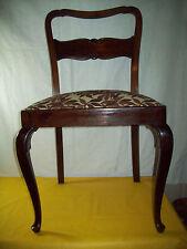 Eleganter Chippendale Stuhl Salonstuhl Nussbaum Polster Federkern