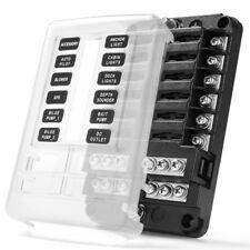 MICTUNING 12V Blade Fuse Box Holder Block 250A 12-Circuit Waterproof ATC ATO