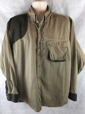 Master Sportsman Long Sleeve Button Down Rifle Shirt Chest Pocket Size XL