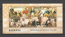 Barbuda 1976 Sc#237d  Bicentenary of the USA  MNH Souvenir Sheet