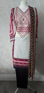 Shalwar Kameez Pakistani Indian Dress Casual Designer Stitched 3 Piece Suit