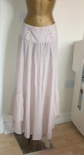 Emporio Armani Pastel Blush Pink Stunning Unusual Maxi Skirt Sz IT 38 UK 6-8 W28