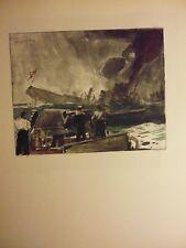 Marine: Gravure guerre 14/18:L'AMPHION ET LE KONIGIN-LUISE DE C FOUQUERAY