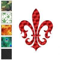 Fleur De Lis Art Decal Sticker Choose Pattern + Size #864